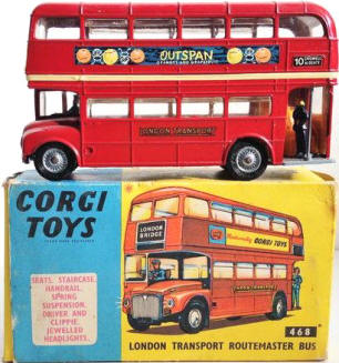 Vintage Corgi Toy London Double Decker Bus For Sale