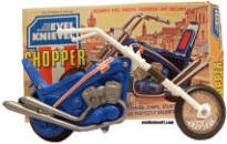 Vintage Evel Knievel Stunt Chopper with Box